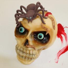 Entremets Halloween tête de mort