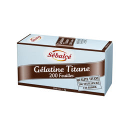 Gélatine titane 200 feuilles Sébalcé - Condifa