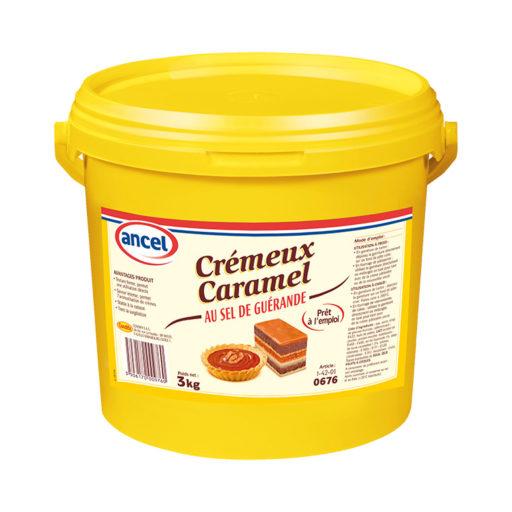 Crémeux caramel au sel de Guérande ancel - Condifa