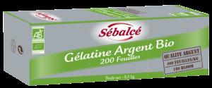 Gélatine Argent Bio 200 feuilles Sébalcé