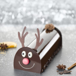 Bûche Renne Orange, Épices de Noël & Chocolat