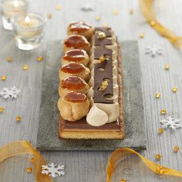 Buche façon saint honoré vanille noisettes - ancel - Condifa