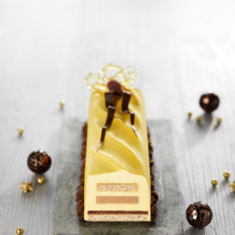 Bûche Tonka Caramel, Passion et Chocolat - Sébalcé - ancel - Condifa