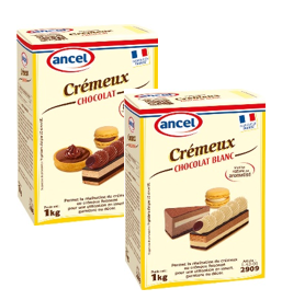 Crémeux Chocolat et Crémeux Chocolat Blanc ancel