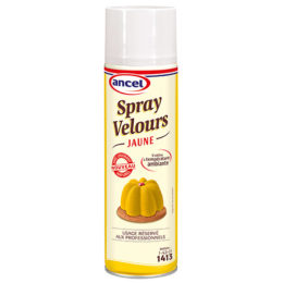 Spray velours jaune colorant naturel