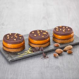 Tartelette Yuzu-Praliné-Chocolat