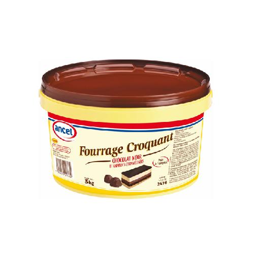 Fourrage Croquant Chocolat Noir Amandes Caramélisées