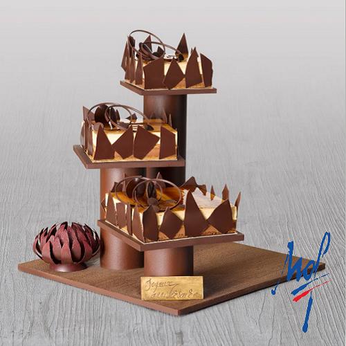 Réalisation d'un présentoir en chocolat et d'une fleur en chocolat par Stéphane Glacier - Condifa
