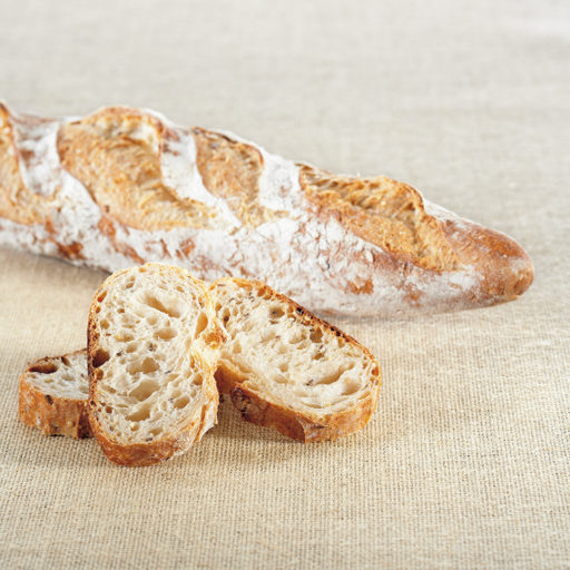 Recette de baguette au froment et aux graines Agrano - Condifa