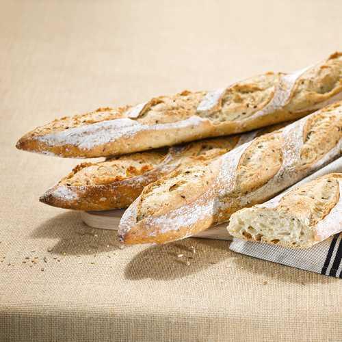 Recette de baguette aux graines Agrano - Condifa