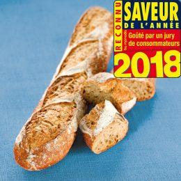 Recette de baguette aux graines de lin à base de farine élaborée vitalis saveur année 2018 Agrano - Condifa