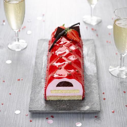 Recette de bûche fraise champagne cresco - Condifa