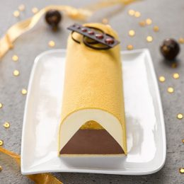 Recette de bûche glacée choco orange cannelle cresco - Condifa