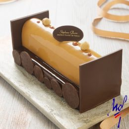 Recette de bûche lactée piémont vanille Tahitensis chocolat par Stéphane Glacier - Condifa