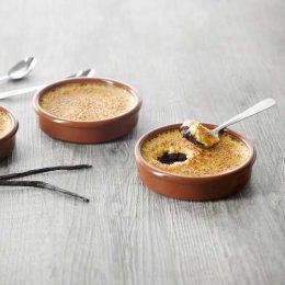 Recette de crèmes brûlées vanille Tahitensis fond chocolat - Condifa
