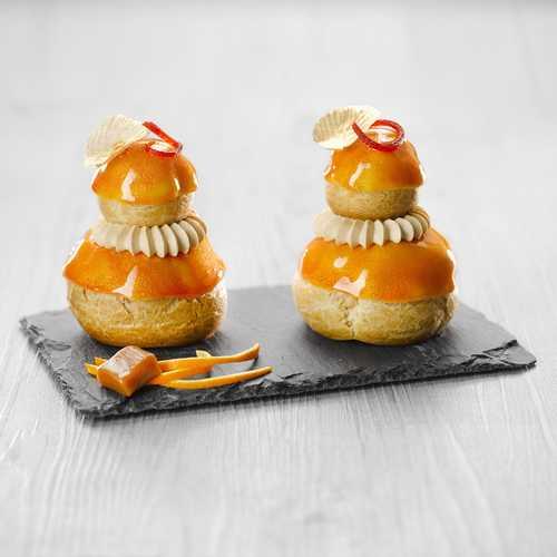 Recette de religieuse orange caramel au sel de Guérande - Condifa