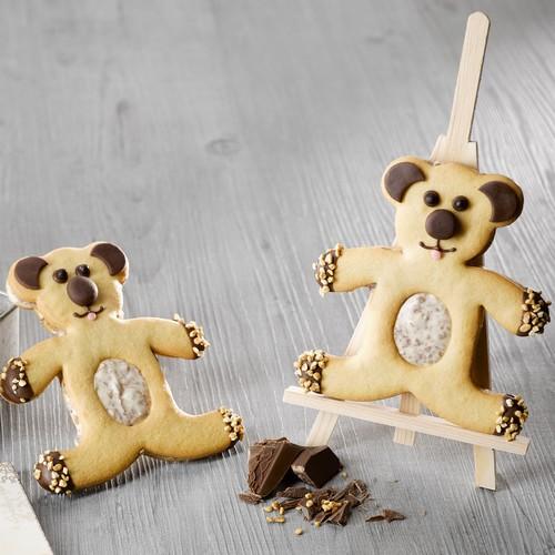 Recette de sablés ourson chocolat pâte d'amandes - Condifa