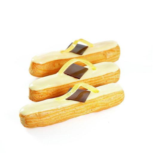 Recette éclair mousseline zeste de citron - Condifa
