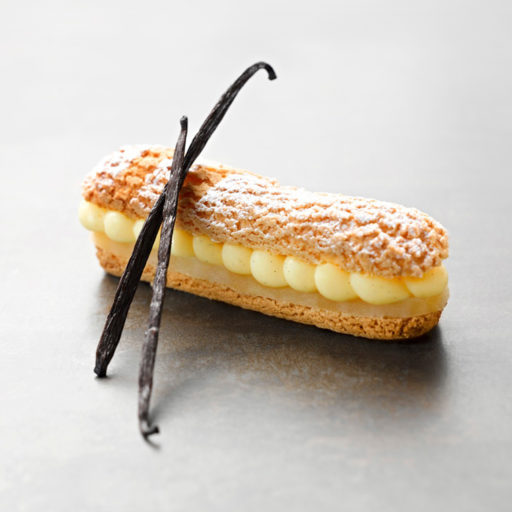 Recette éclair poire vanille Bourbon - Condifa