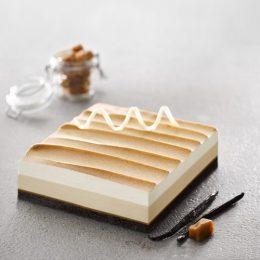 Recette entremets glacés caramel au sel de Guérande et vanille Bourbon de Madagascar - Condifa