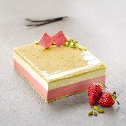 Recette entremets glacés façon fraisier à la vanille Bourbon - Condifa