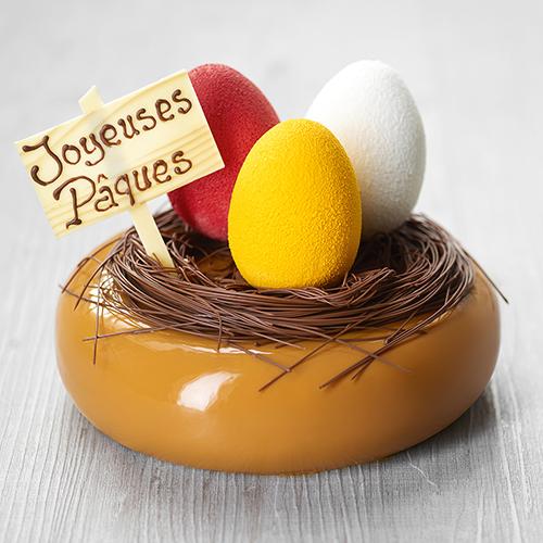 Recette entremets nid de Pâques ancel cresco - Condifa