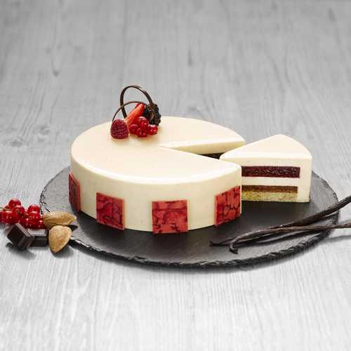Recette entremets vanille fruits rouges - Condifa