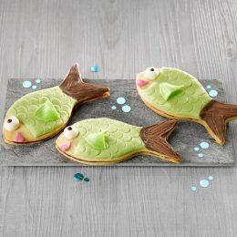 Recette sablés poissons framboise pâte d'amandes - Condifa
