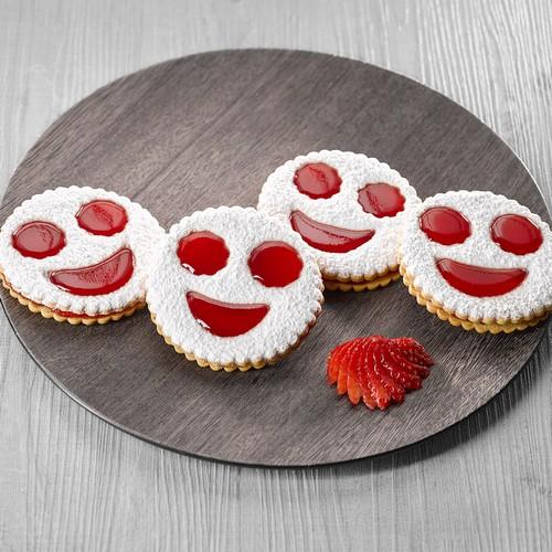 Recette sablés smiley fraise - Condifa