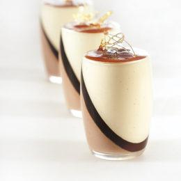 Recette de verrines vanille Tahitensis caramel chocolat au lait - Condifa